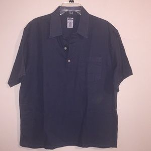 Old Navy Blue 3 Button Casual or Dress Shirt LARGE